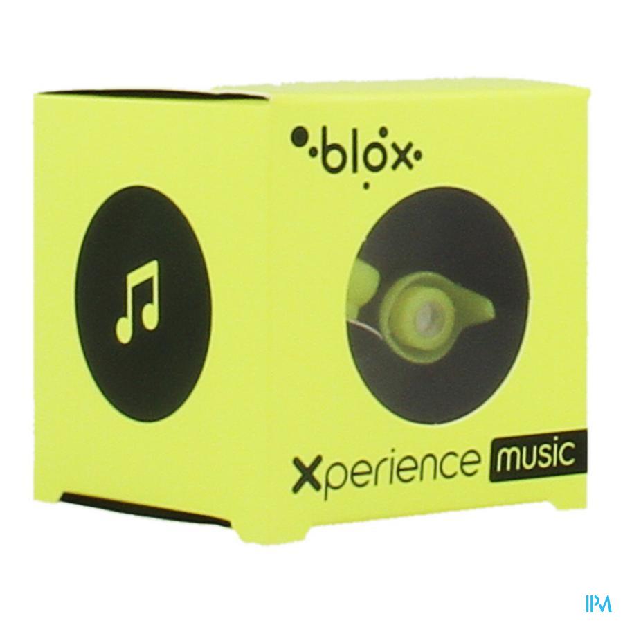 Blox Xperience Music Oordopjes Fluo Geel 1 Paar