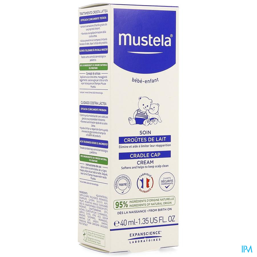 Mustela Ss Soin Croutes Lait Nf 40ml