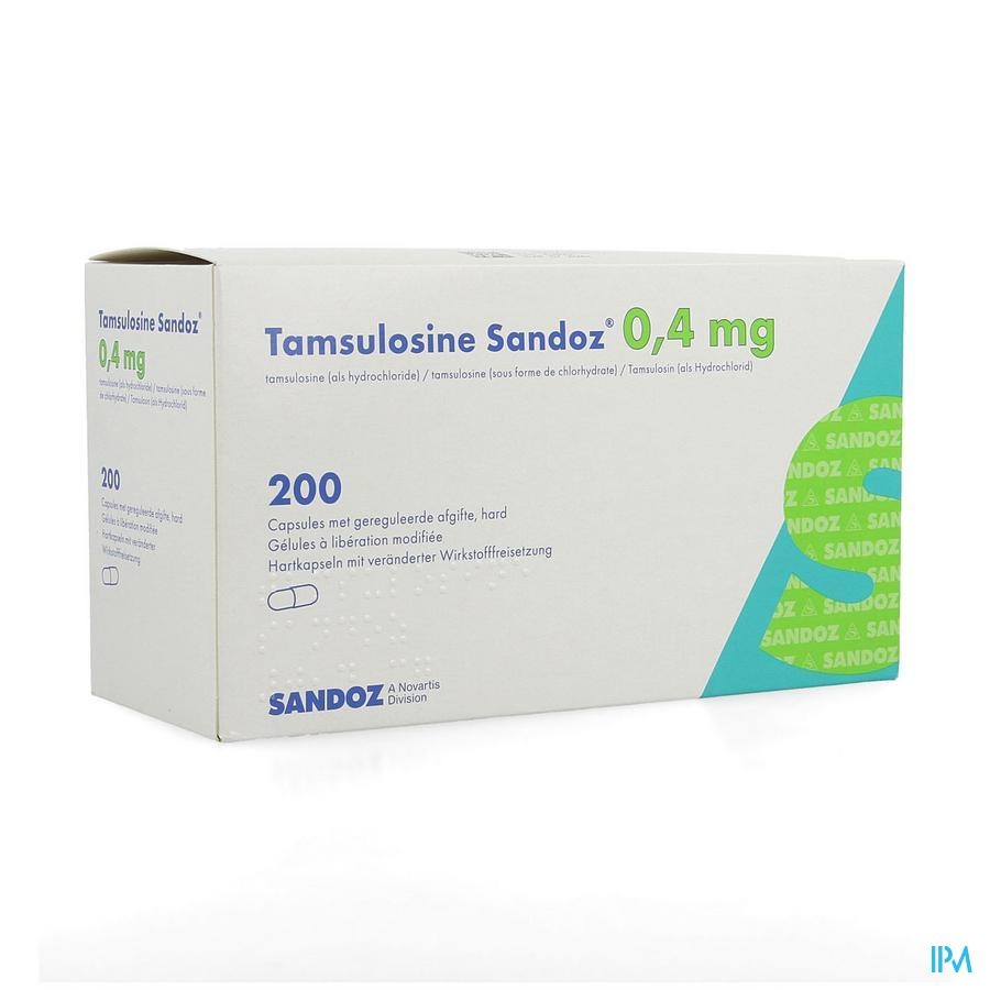Tamsulosine Sandoz 0,4mg Gereg.afg. Caps 200x0,4mg