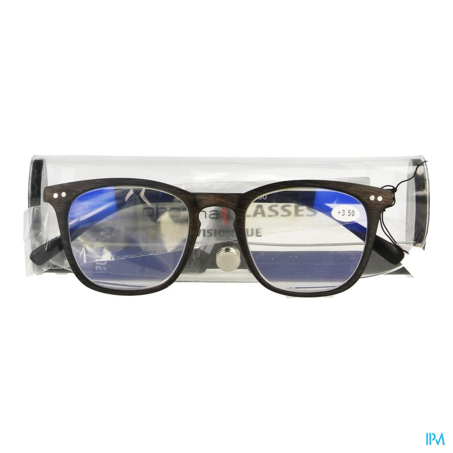 Pharmaglasses Visionblue Pc02 Leesbril +3.50 Brown