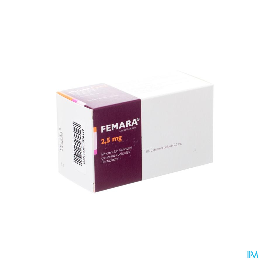 Femara 2,5mg Pi Pharma Filmomh Comp 100 Pip
