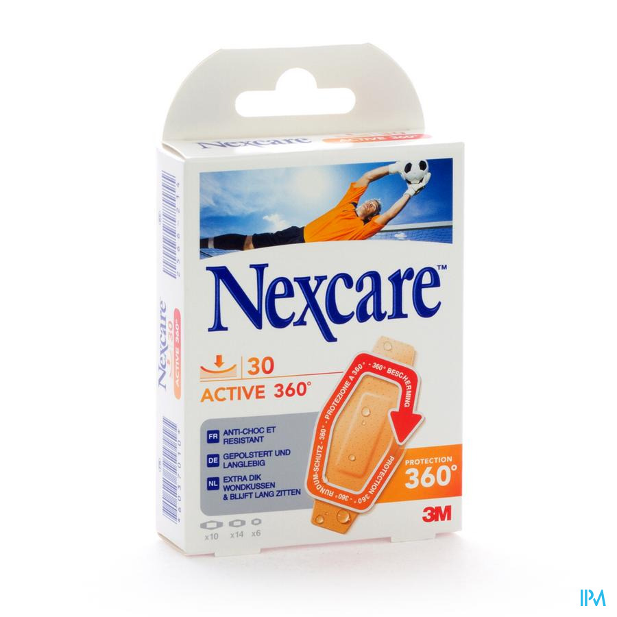 NEXCARE 3M ACTIVE STRIP 360 ASSORTED 30