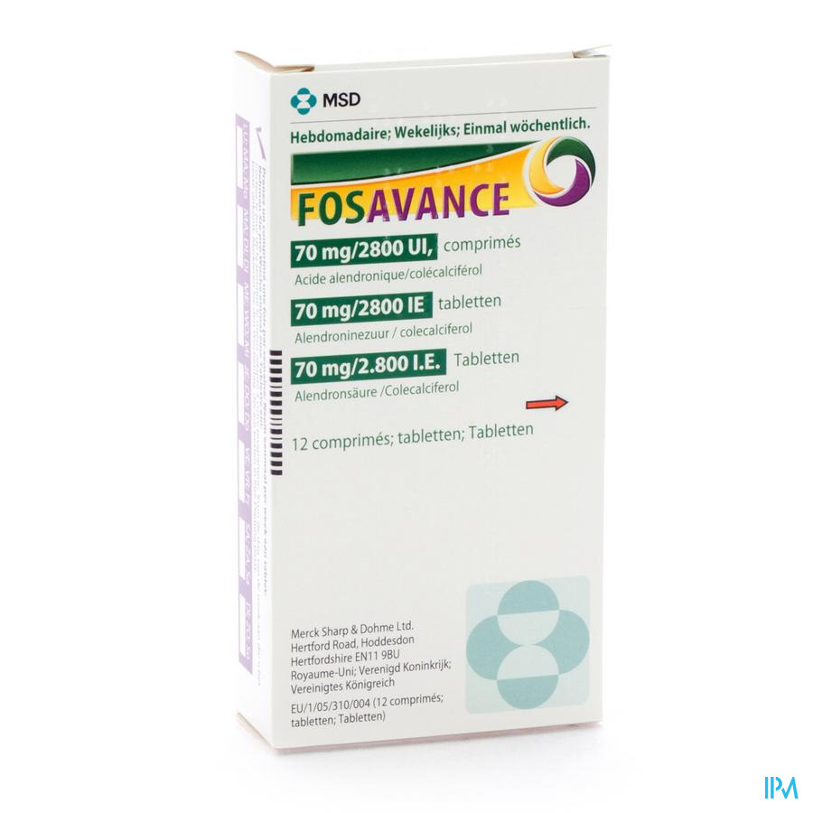 Fosavance Tabl 12 - 70mg /2800 Ui
