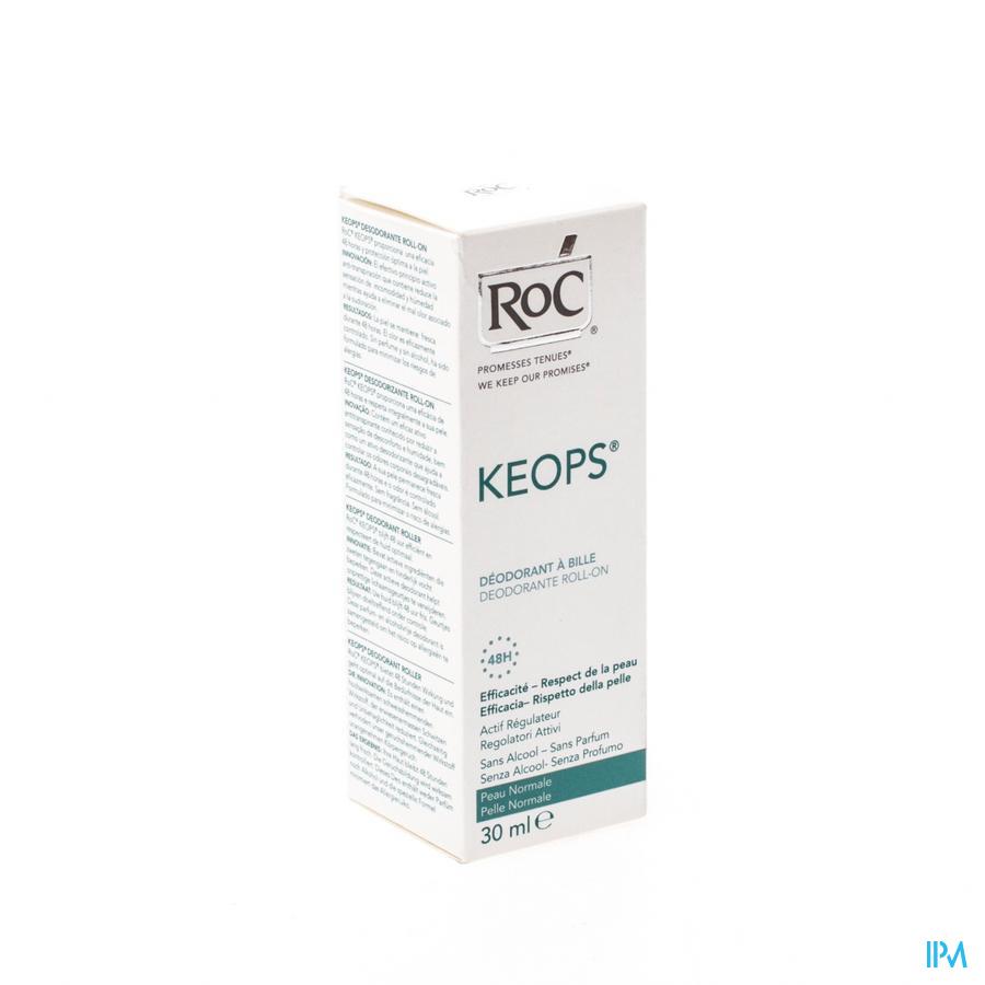 Roc Keops Deo Roller Z/alcohol Z/parf Norm/h 30ml