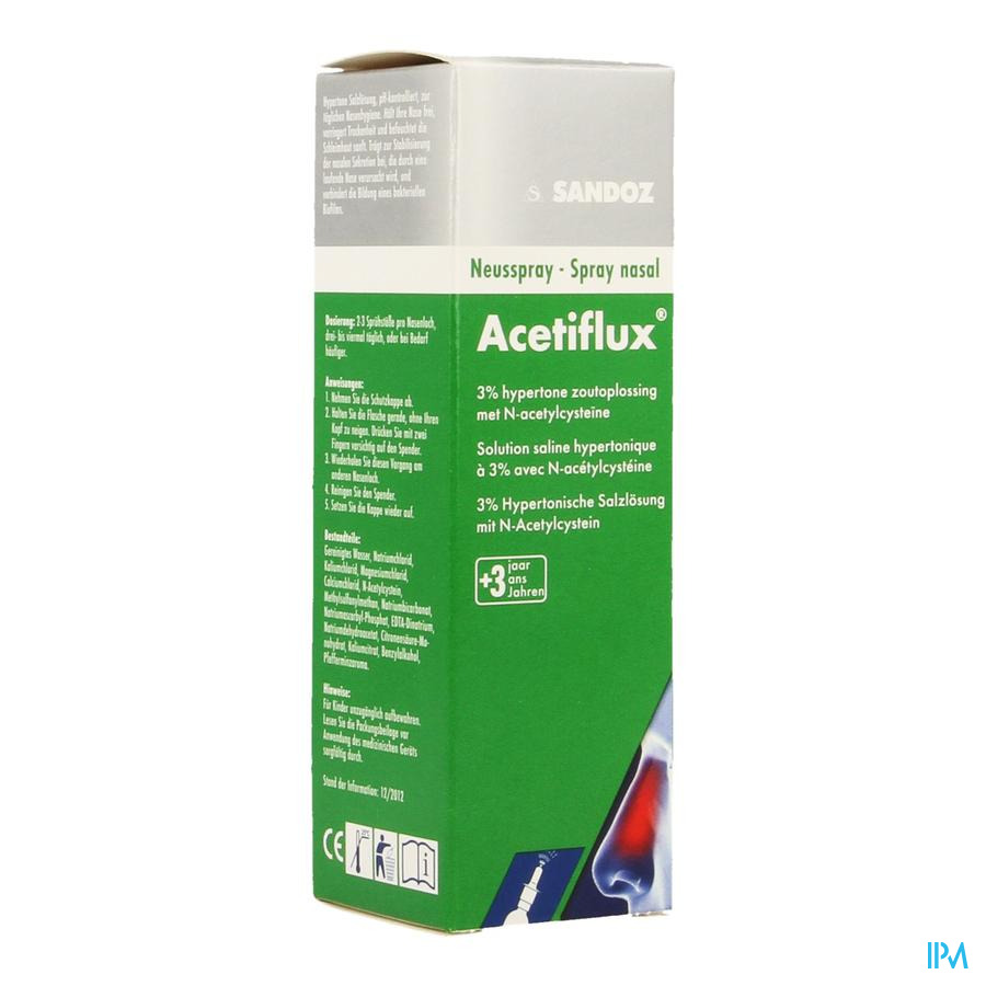 Acetiflux 3% Spray Nasal Lsp 20ml