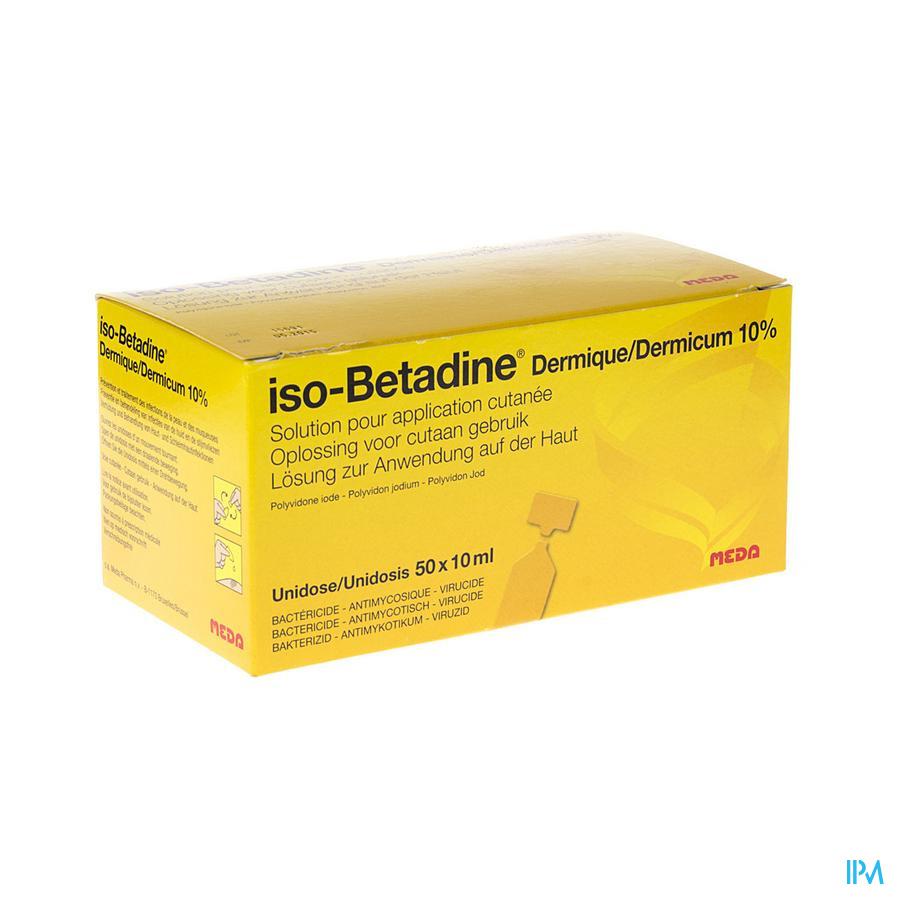ISO BETADINE DERM 10% 50X10ML UD