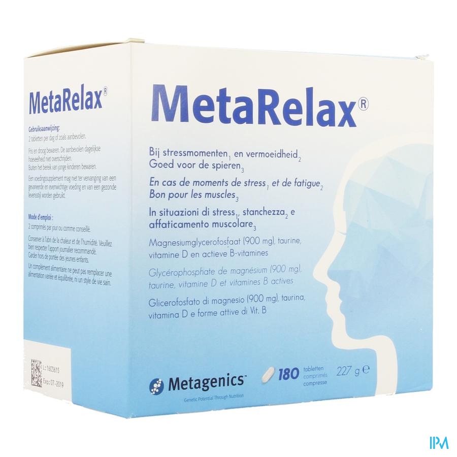 Metarelax Nf Tabl 180 22431 Metagenics