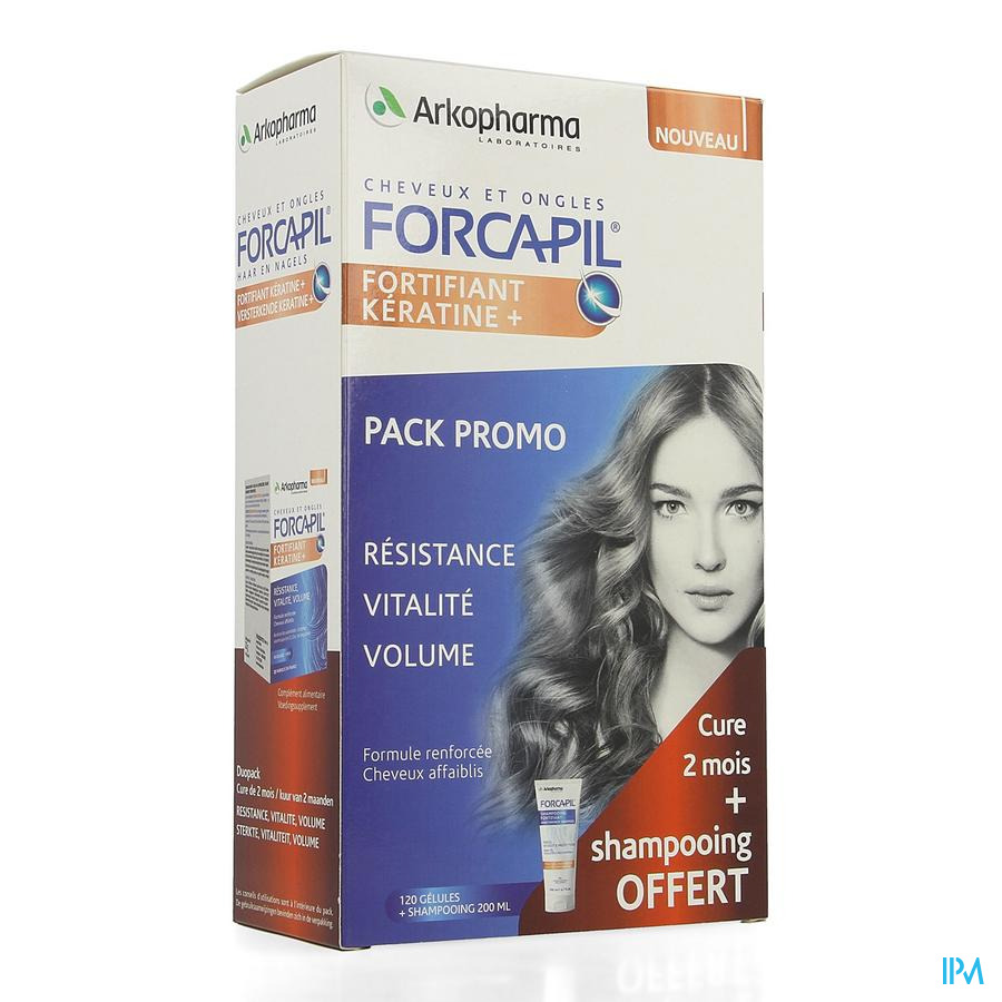 Forcapil Pack Decouverte Caps 2x60+sh 200ml Grat.