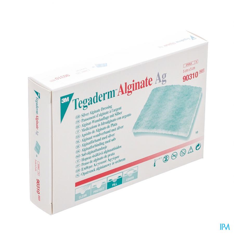 Tegaderm Alginate Ag 5cmx 5cm 10 90310