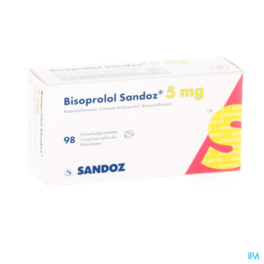 Bisoprolol Sandoz 5mg Tabl 98 X 5mg