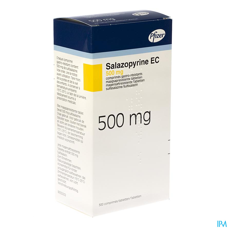 Salazopyrine Ec Drag 300 X 500mg
