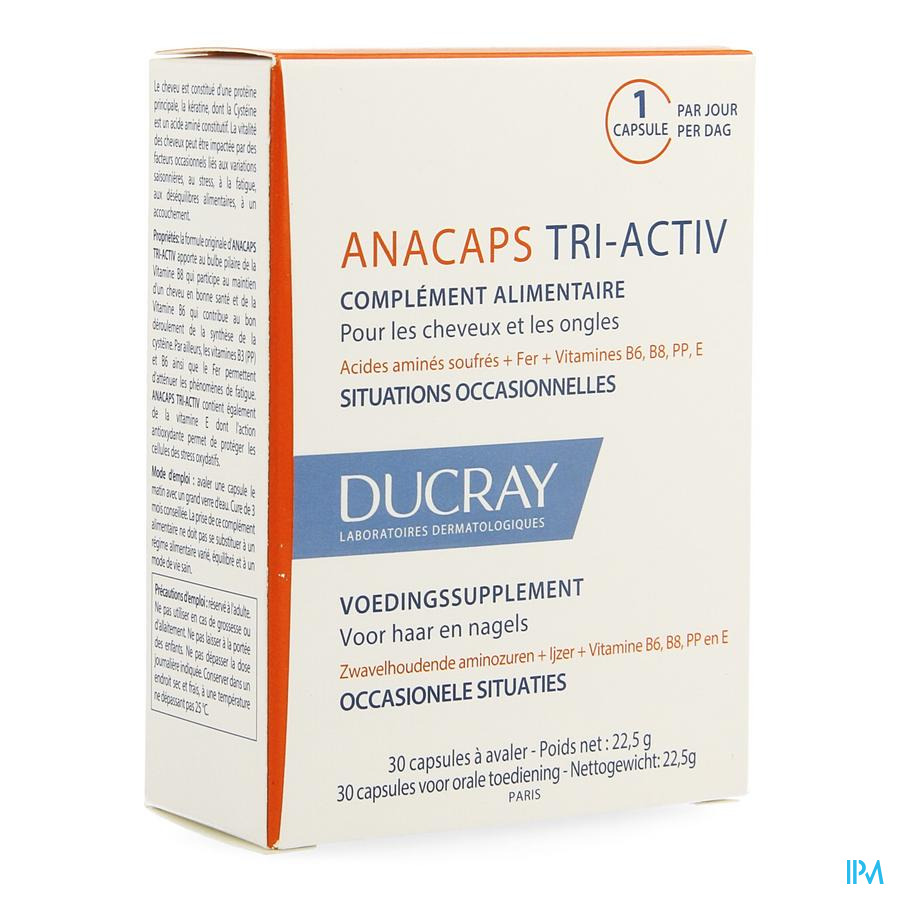 Ducray AnaCapsule Tri-activ Capsule 1x30
