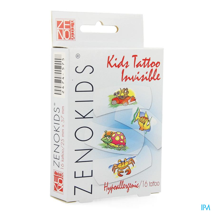 Zenokids Tattoo Invisible Pansement Wtp 16