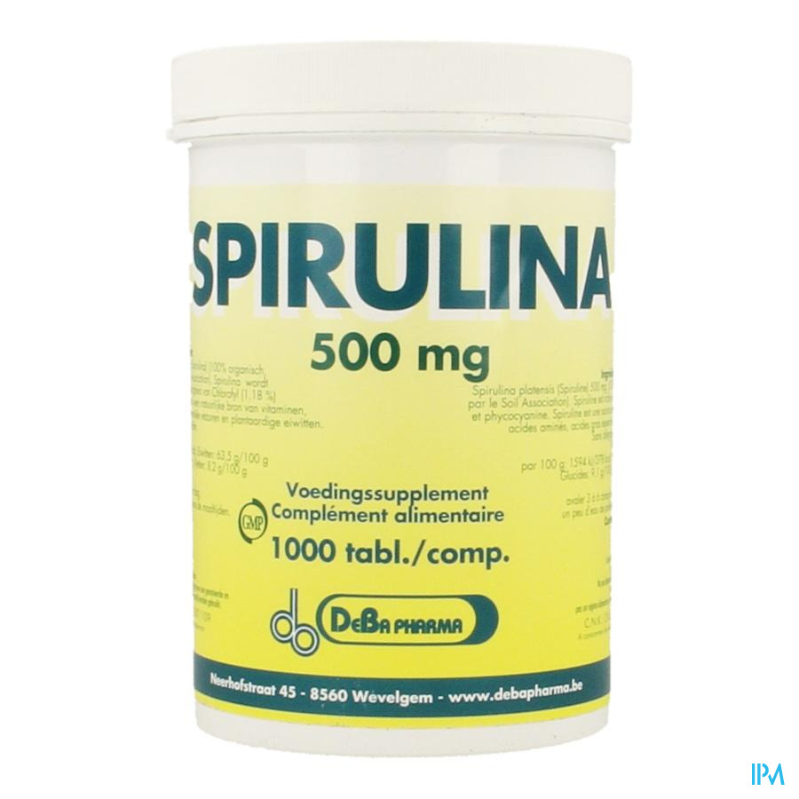 SPIRULINA DEBA 500 mg x 1000 tabletten