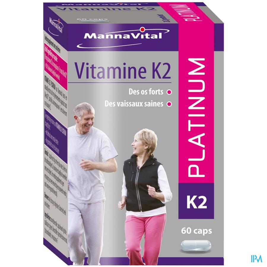 Mannavital Vitamine K2 Platinum  NF Caps 60