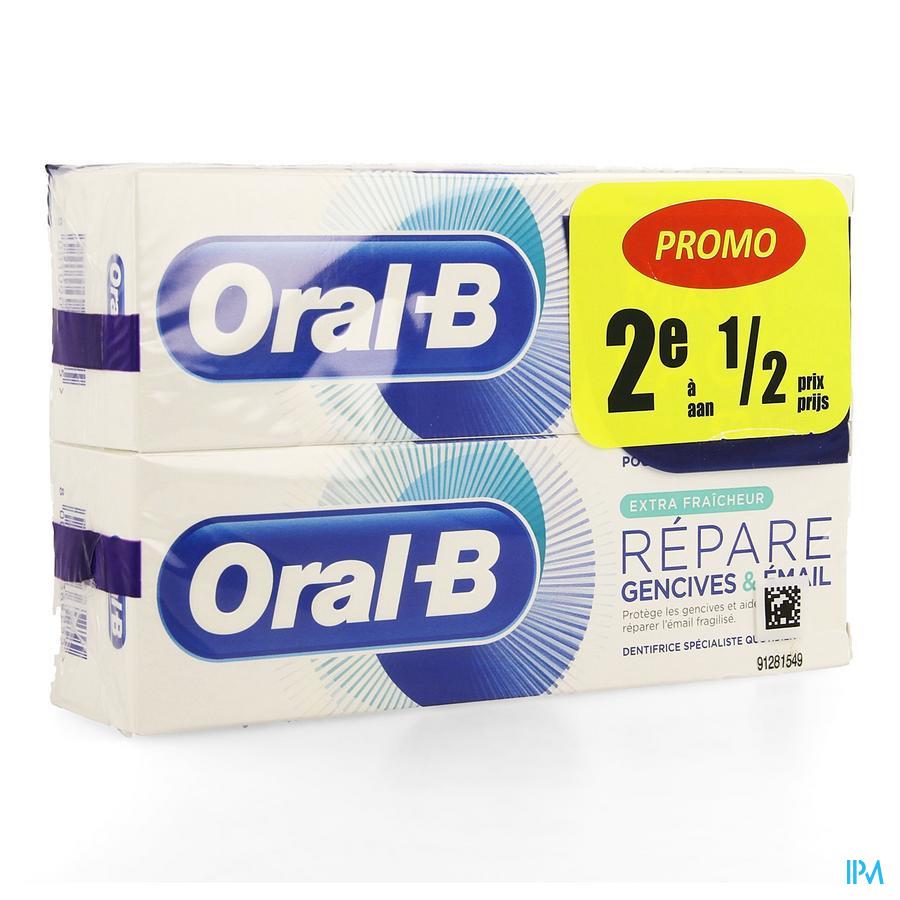 Oral B Tandpasta Repair Ext. Fresh 2x75ml 2e -50%