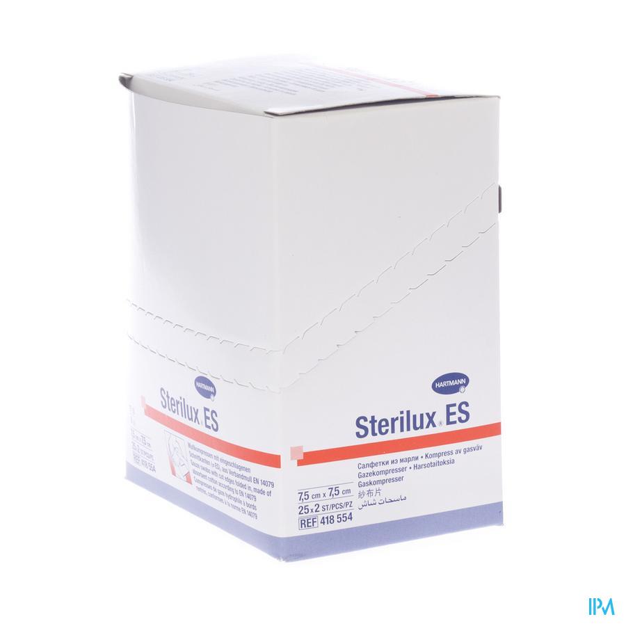 Sterilux Es Kp Ster 8pl 7,5x 7,5cm 25x 2 4185544