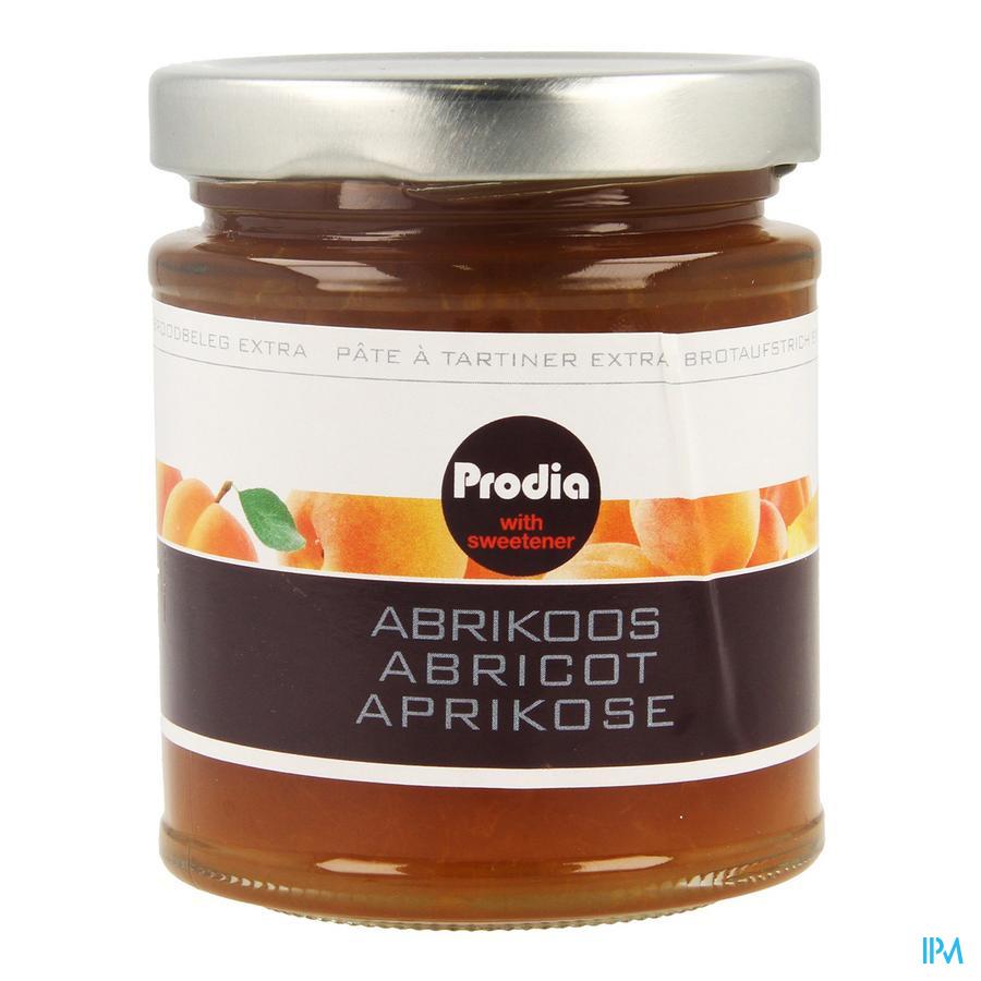 Prodia Broodbeleg Extra Abrikoos Maltitol 215 gr