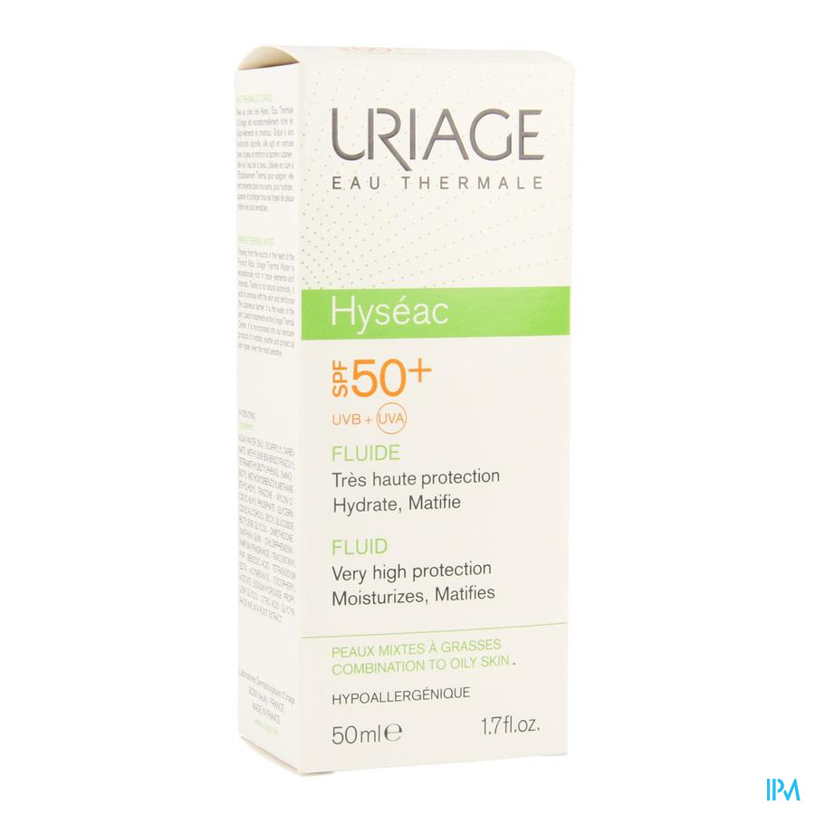 Uriage Hyseac Fluide Solution Ip50 P Mixte-pg Tube 50 ml
