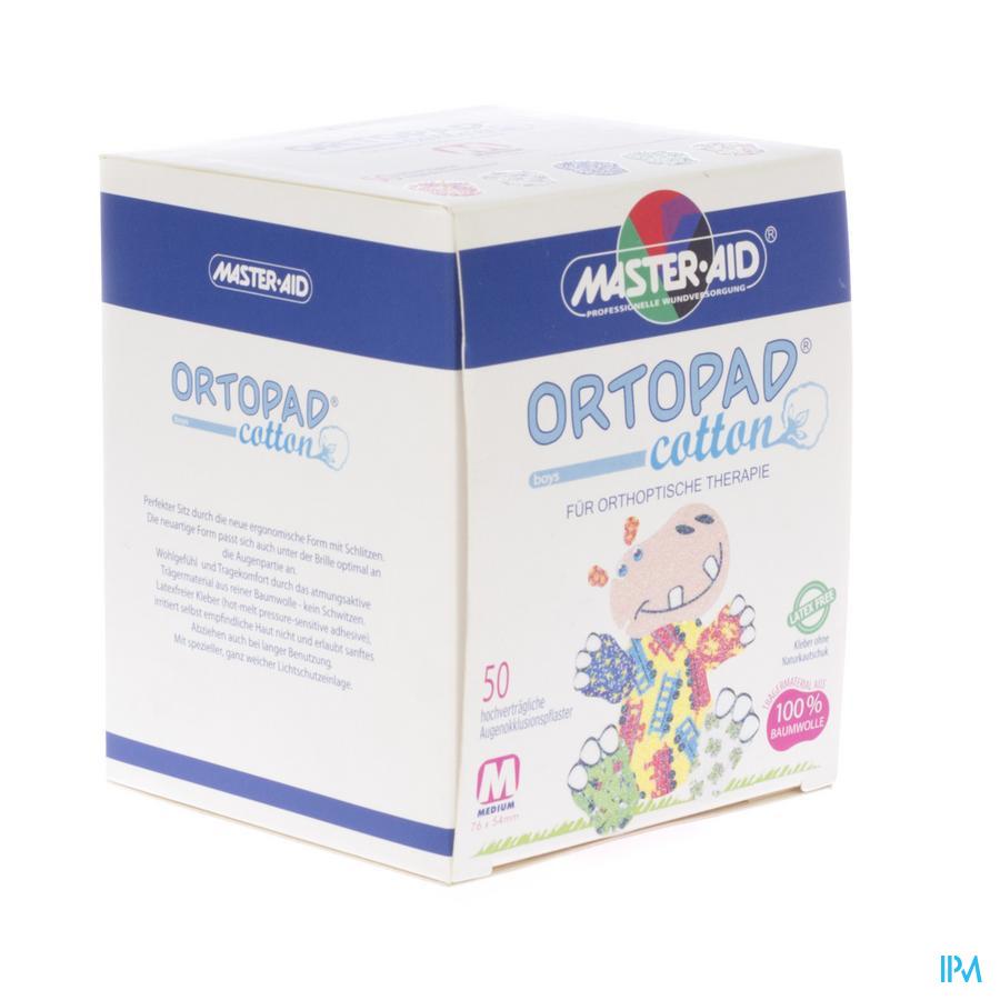Ortopad Cotton Medium Boys Oogpleister 50 70172