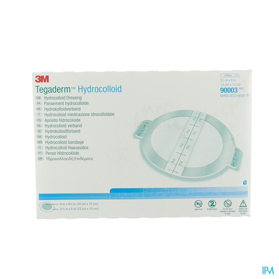 Tegaderm Hydrocol.oval Ster 130mmx150mm 5 90003