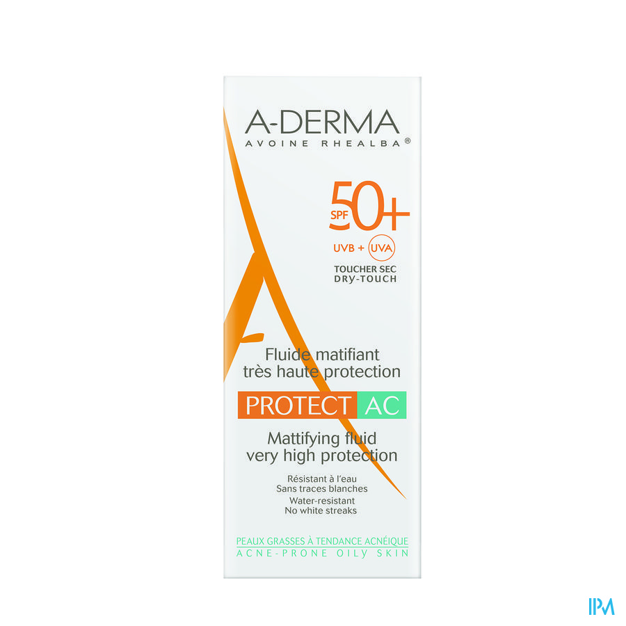 Aderma Protect Creme Acne Ip50+ Tube 40ml