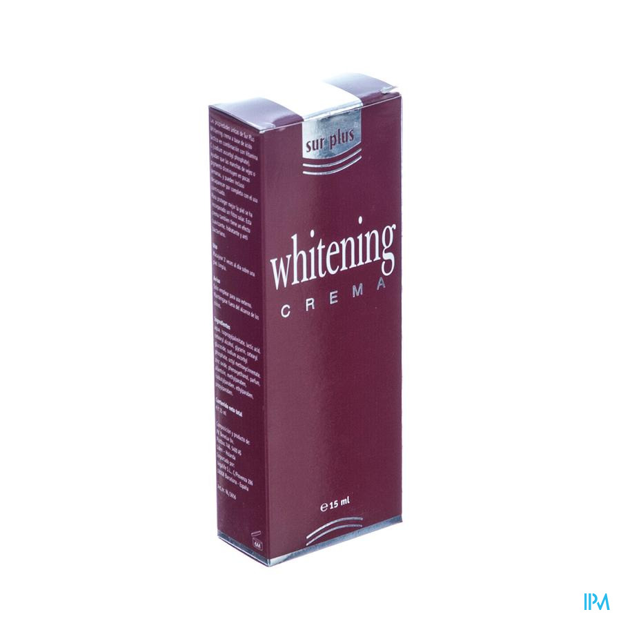Sur Plus Whitening Creme 15ml