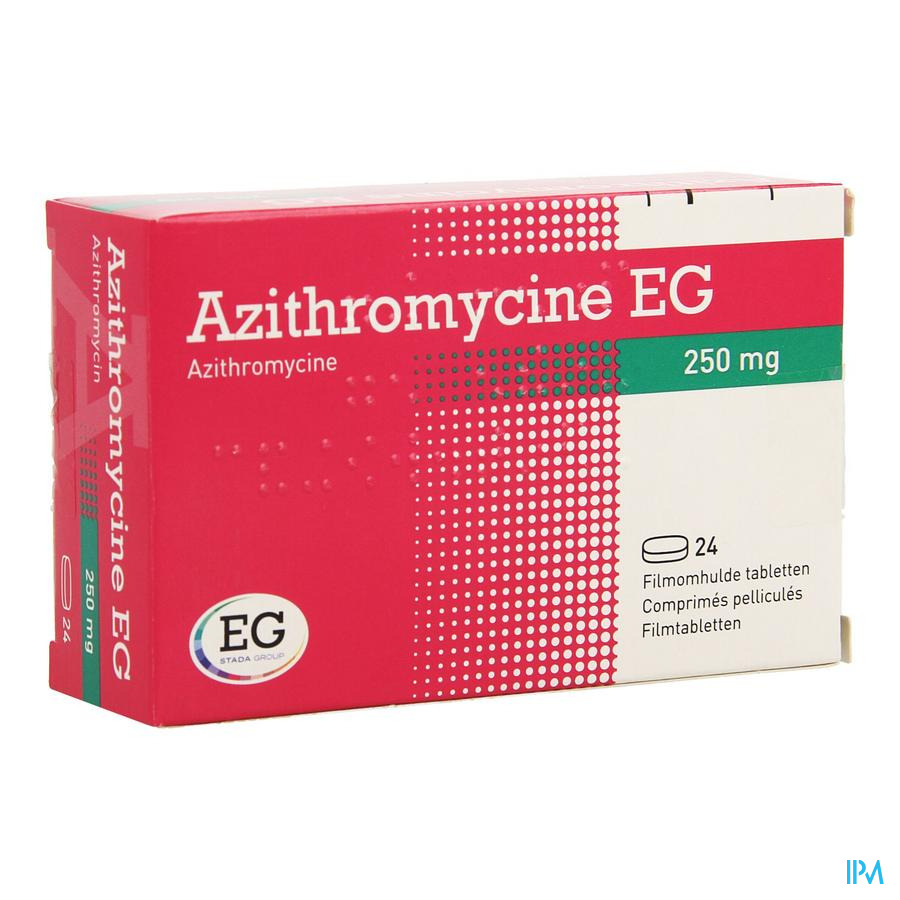 Azithromycine 250mg Eg Comp Pell 24x250 Mg