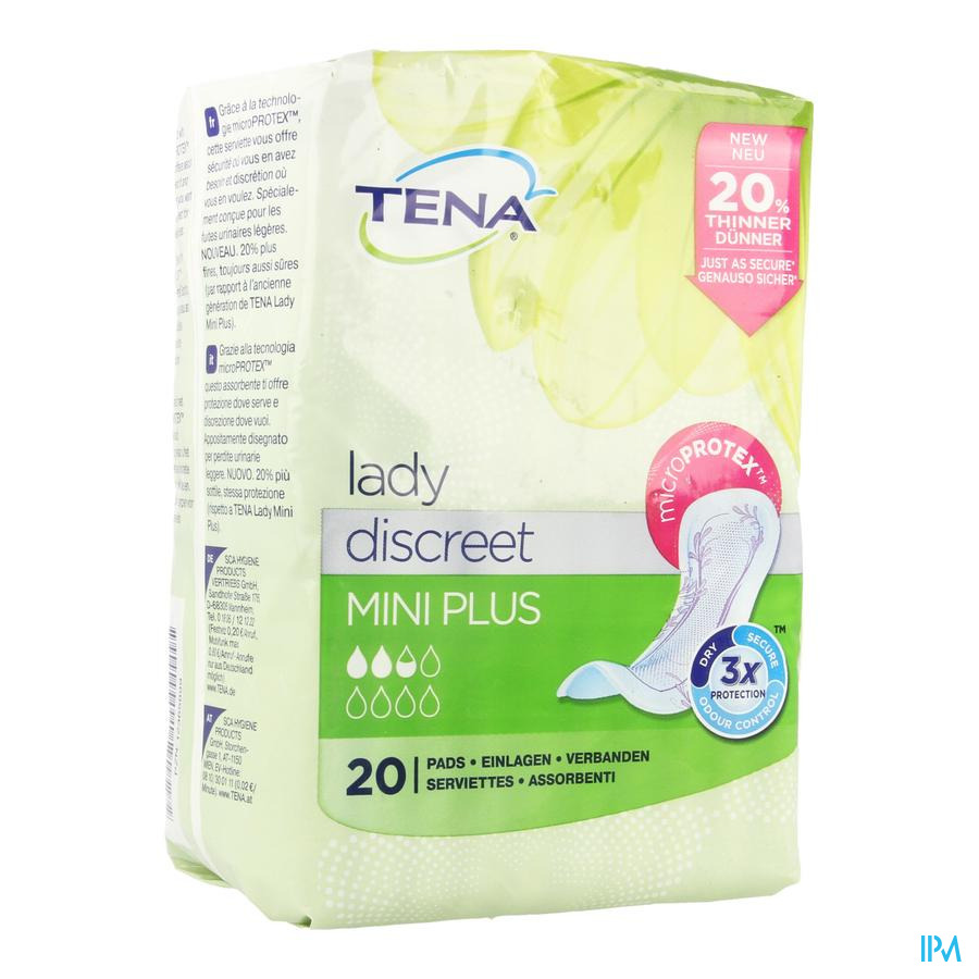 Tena Lady Discreet Mini Plus 20 760322