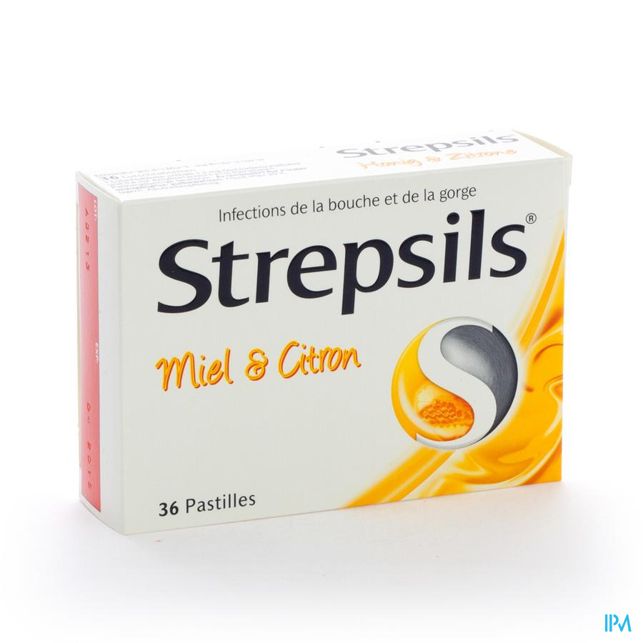 Strepsils Miel Citron Past 36