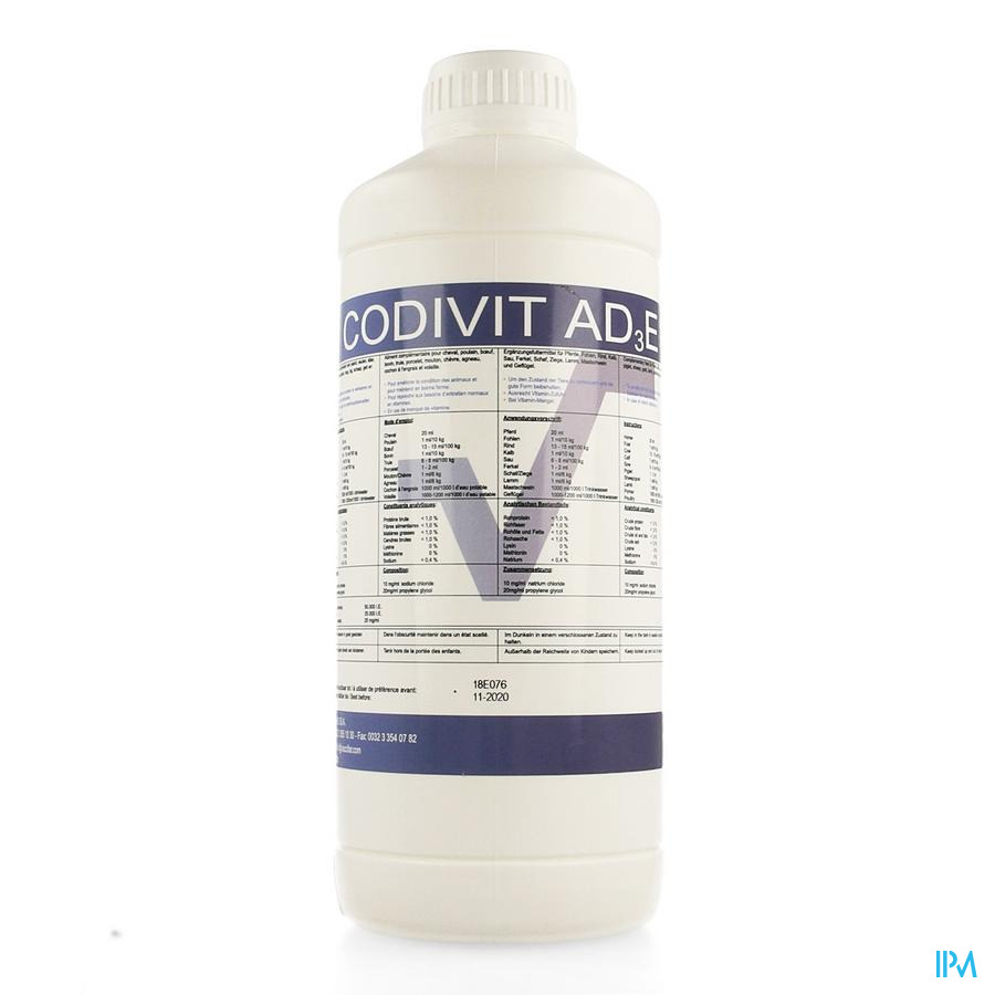Codivit Ad3e Solution Orale 1l