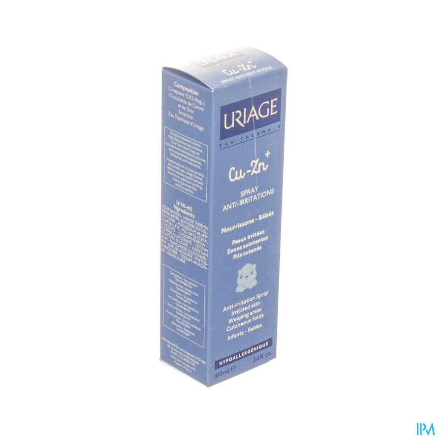 Uriage Cu-zn+ Spray Tegen Irritatie 100ml