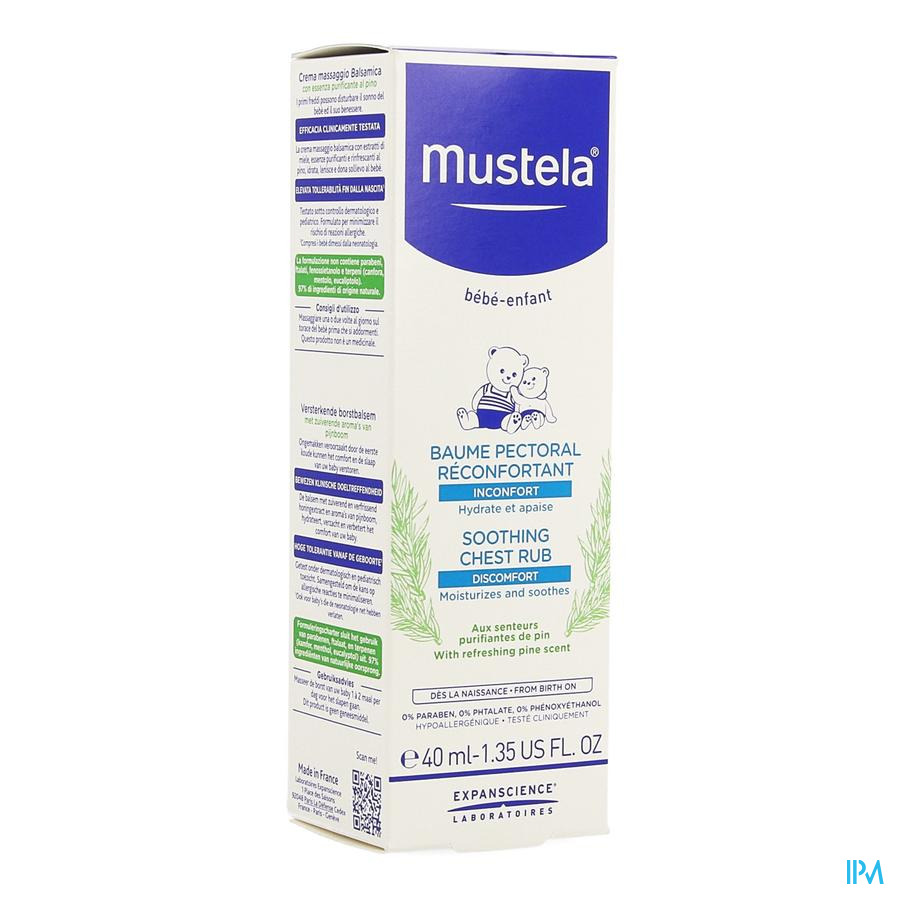 Mustela Ss Baume Pectoral Reconfortant 40ml