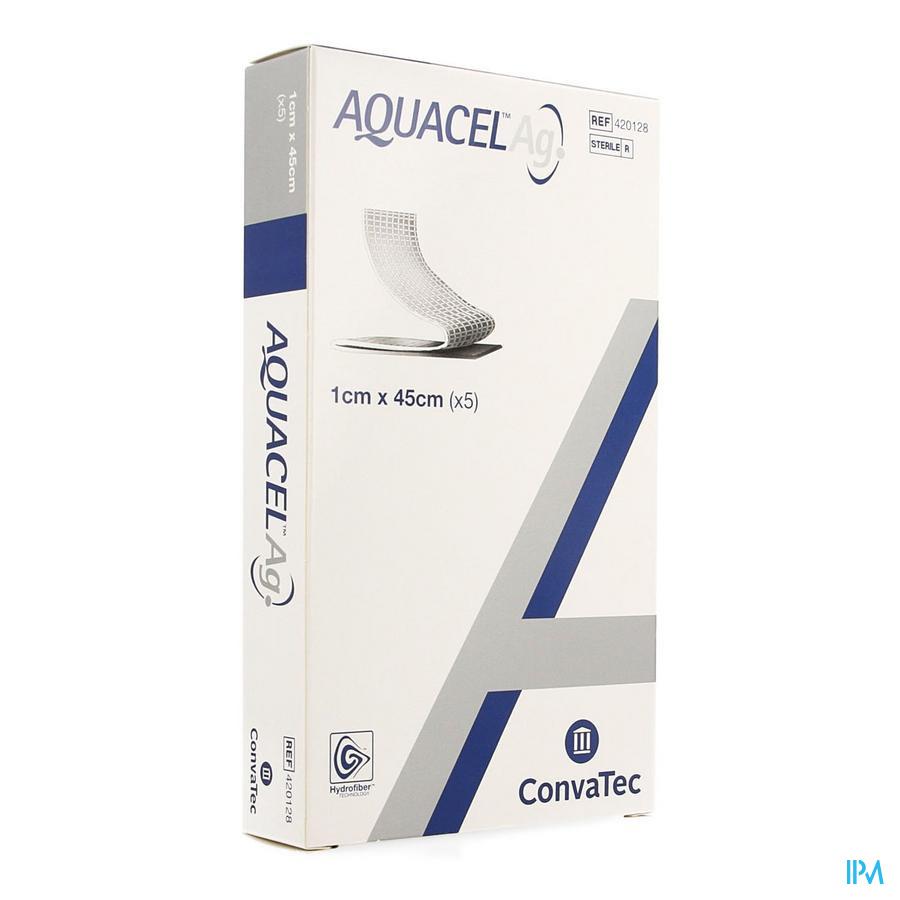 Aquacel Ag Verb Hydrofiber+versterking 1x45cm 5
