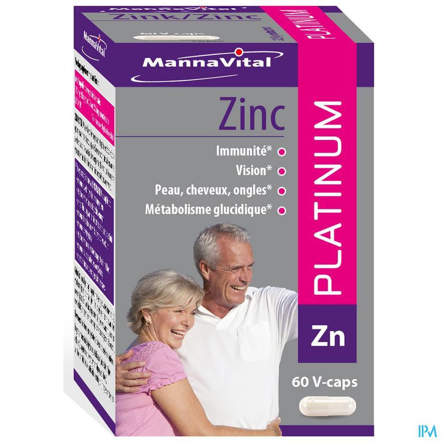 Mannavital Zink Platinum V-Capsule 60