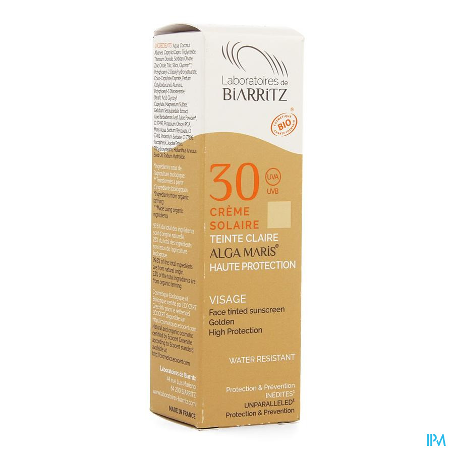 Alga Maris Zonnecreme Gezicht Ip30 Licht 50ml