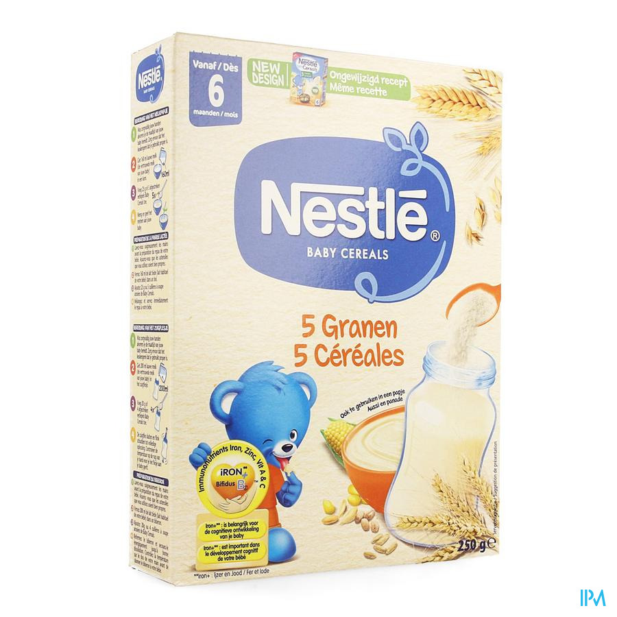 Nestle Baby Cereals 5 Cereales 250g