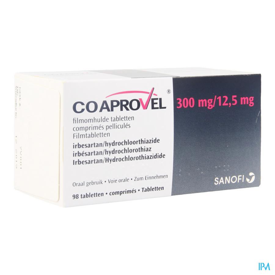 Coaprovel Tabl 98 X 300mg/12,5mg