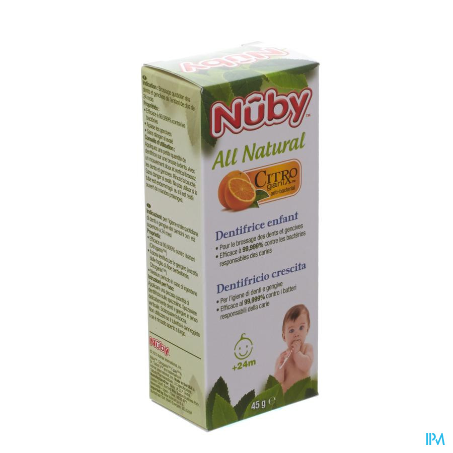 Nuby Citroganix Peutertandpasta – 45g - 24m+