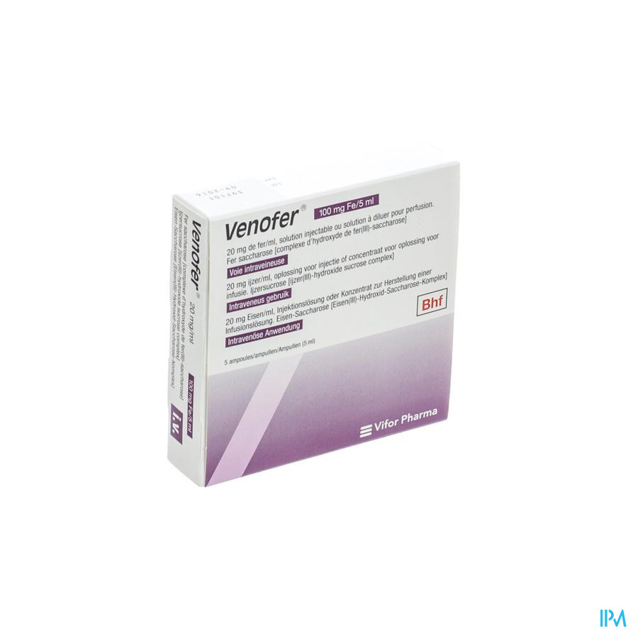 Venofer A Iv 5 Amp 100mg