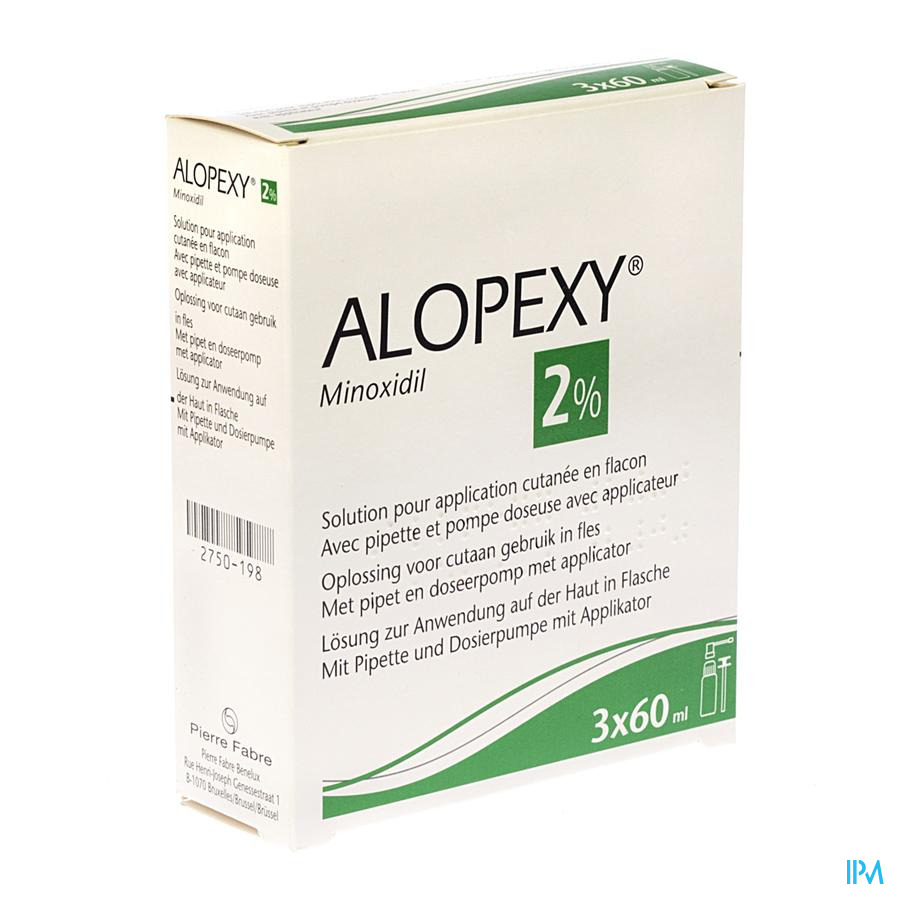 Alopexy 2 % Liquid Fl Plast Pipette 3x60ml