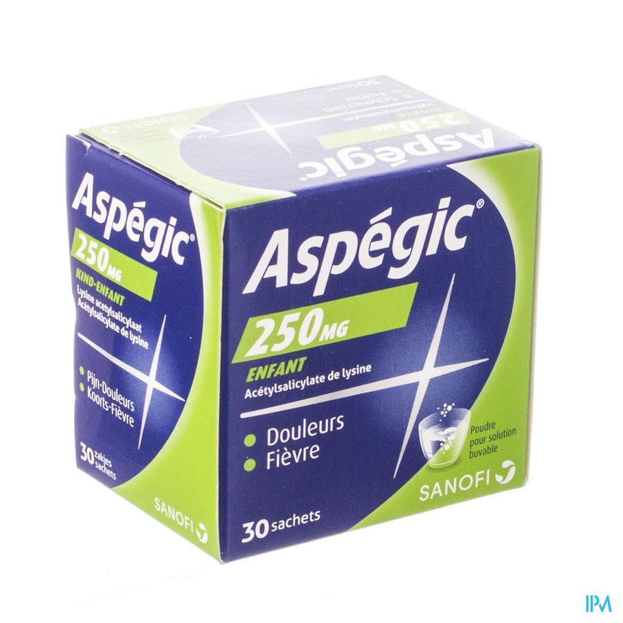 Aspegic 250 Pulv 30x 250 mg