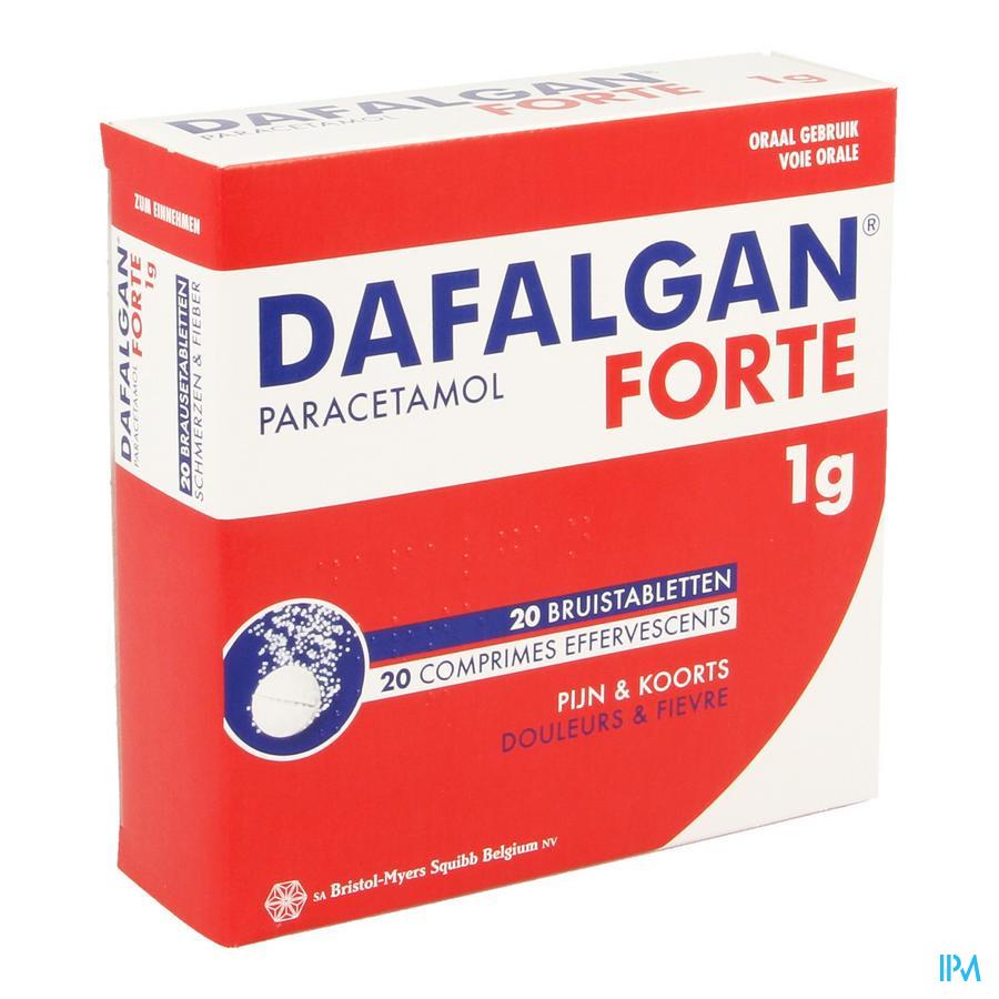 Dafalgan Forte 1g Comp Efferv. 20