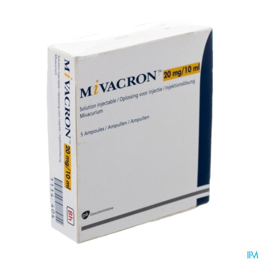 Mivacron 5 Amp 20mg 10ml
