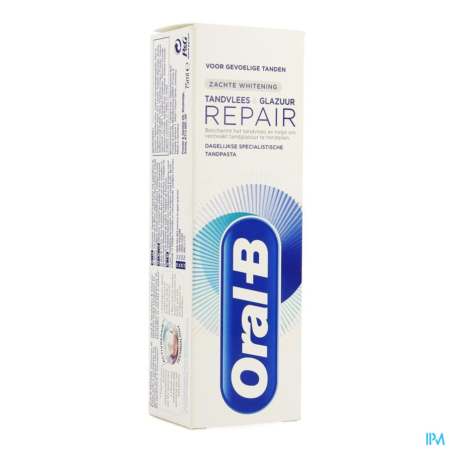 Oral B Dentif. Gum&enamel Repair Gentlewhite 75ml