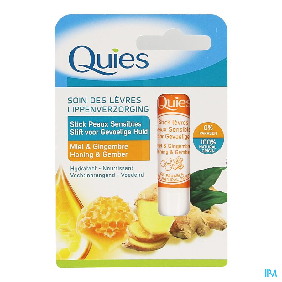 Quies Stick Levres Peau Sensible Miel&gingembre