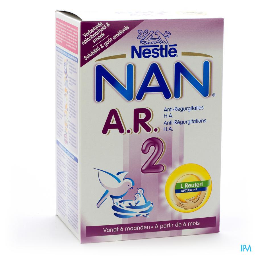 NAN AR 2 PRO OPVOLGMELK 2LFTD PDR 750G