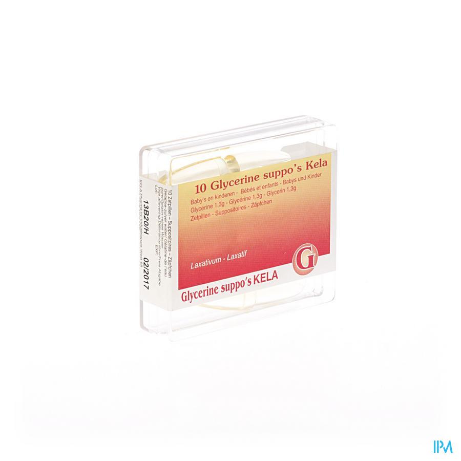 Glycerine Pharma Baby - Inf Suppo 10  -  Kela