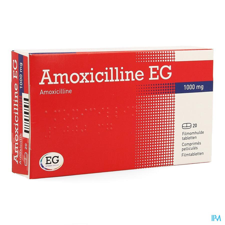 Amoxicilline Eg Comp 20 X 1000mg