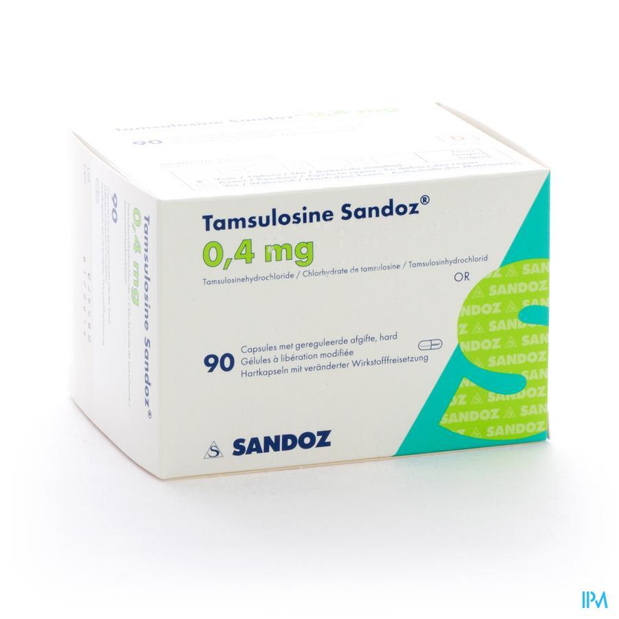 Tamsulosine Sandoz 0,4mg Gereg.afg. Caps 90x0,4mg